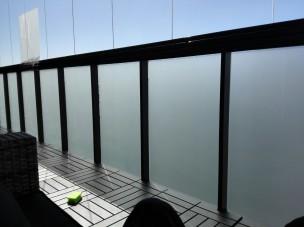 Huurrekalvo, parvekkeen näköeste. ikkunakalvot